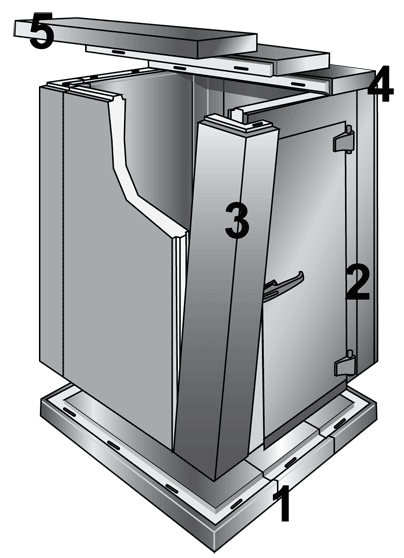 walk in cooler diagram